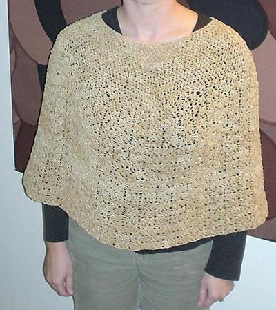 Free Crochet Pattern - Plus Size Granny Poncho from the Ponchos